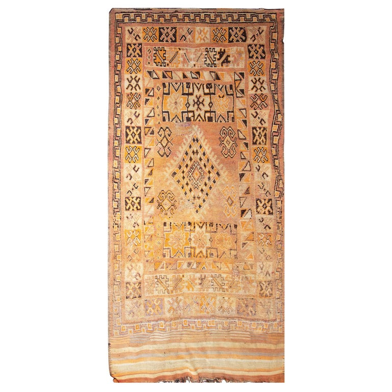1940s Moroccan Runner Rug For Sale At 1stdibs