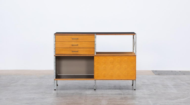 Mid-Century Modern 1940s multicolored ESU Shelf by Charles & Ray Eames 'c' For Sale