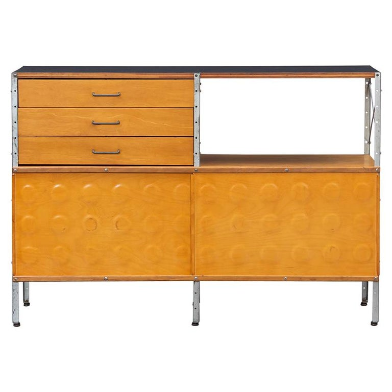 1940s multicolored ESU Shelf by Charles & Ray Eames 'c' For Sale