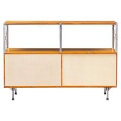 1940s Multicolored Plywood, Fiberglass, Metal ESU Shelf Charles & Ray Eames 'b'