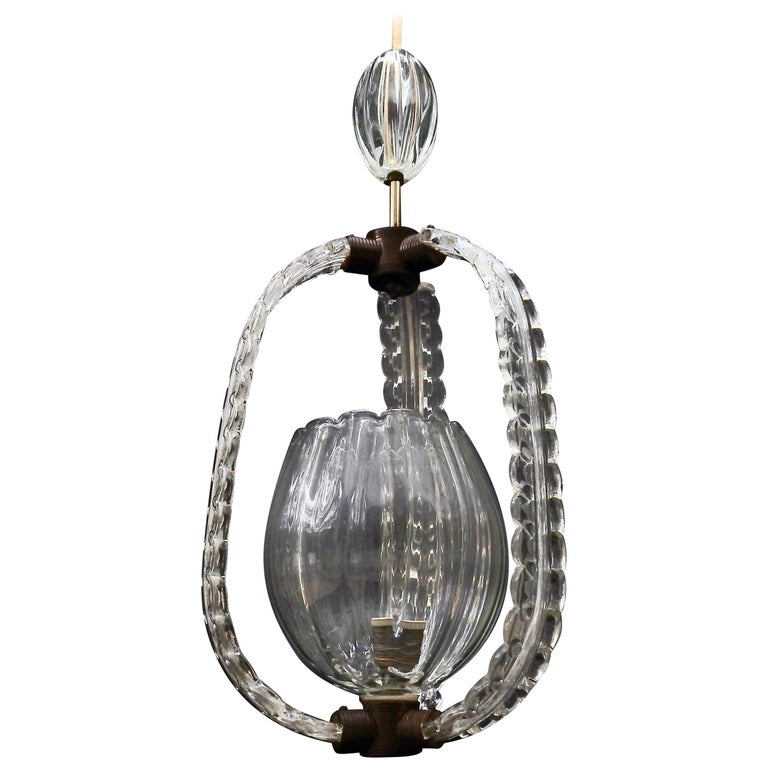 1940s Murano Hanging Lantern For Sale