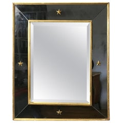 1940s Neoclassical Gilded Wall Mirror Attributed to Pierre Lardin, France