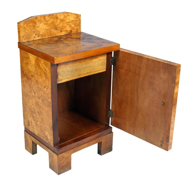 20th Century 1940s Nightstand Bedside Table Art Deco Design, Busnelli Manufacturer For Sale