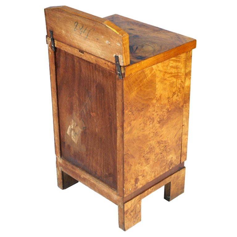 1940s Nightstand Bedside Table Art Deco Design, Busnelli Manufacturer For Sale 1