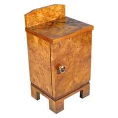 1940s Nightstand Bedside Table Art Deco Design Gio Ponti, Busnelli Manufacturer