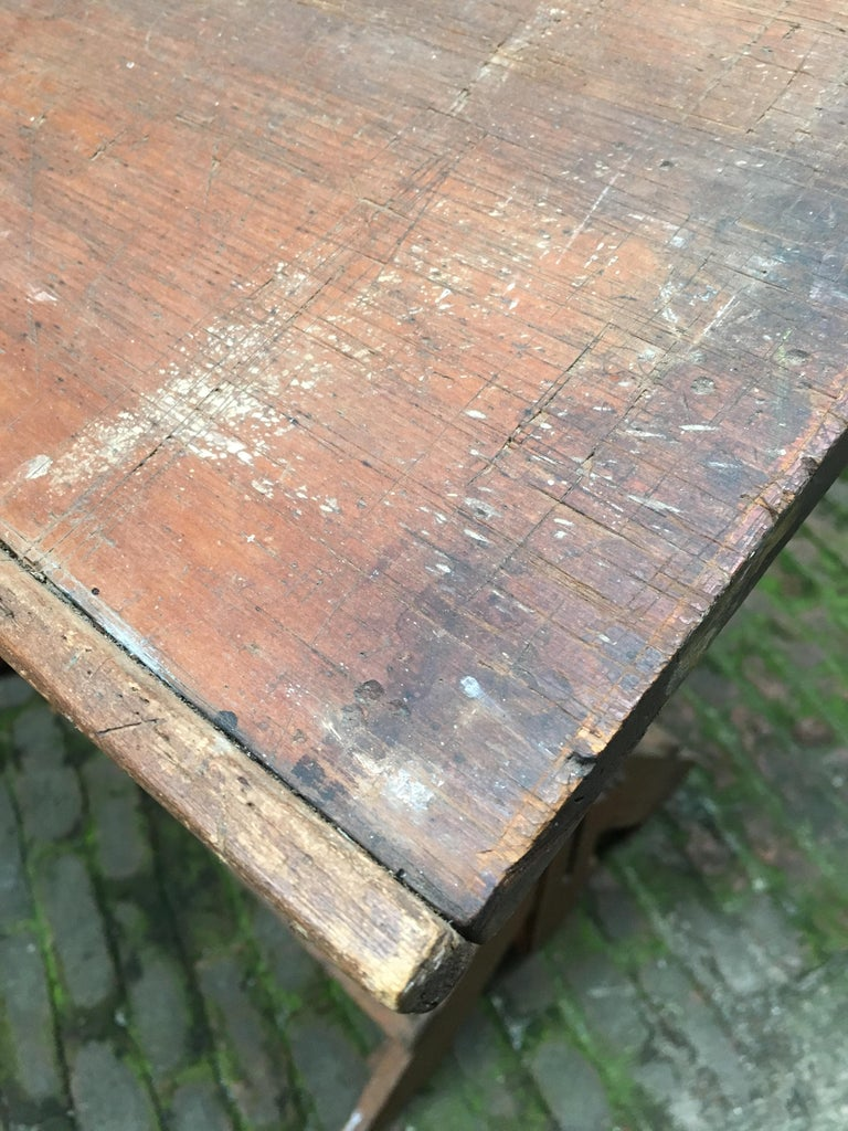 1940s Oak and Pine Drafting Table For Sale 11