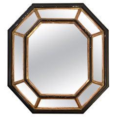 1940s Octagonal Cushioned Mirror