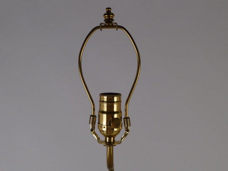 1940s Organic Modern Cerused Oak Flamingo Table Lamp In Good Condition For Sale In Miami, FL