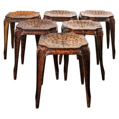 1940s Original Multipl's Stools, Set of Six