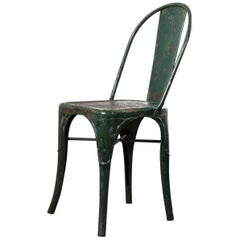 1940s Original Tolix Dining Chair, Model A, Green