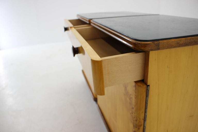 Mid-20th Century 1940s Pair of Bedside Tables, Czechoslovakia For Sale