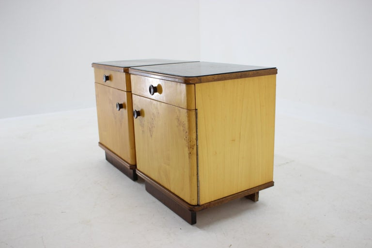 1940s Pair of Bedside Tables, Czechoslovakia For Sale 2