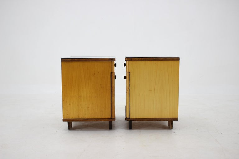 1940s Pair of Bedside Tables, Czechoslovakia For Sale 3