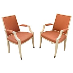1940s Pair of French Art Deco Armchairs in the Style of André Arbus