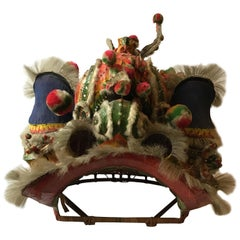 1940s Paper Mache Chinese Dragon Head from a Costume