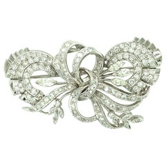 1940s Platinum Diamond Brooch