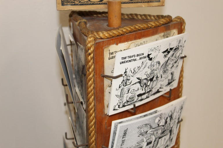 1940s Post Card Display Rack by Bob Petley For Sale 5
