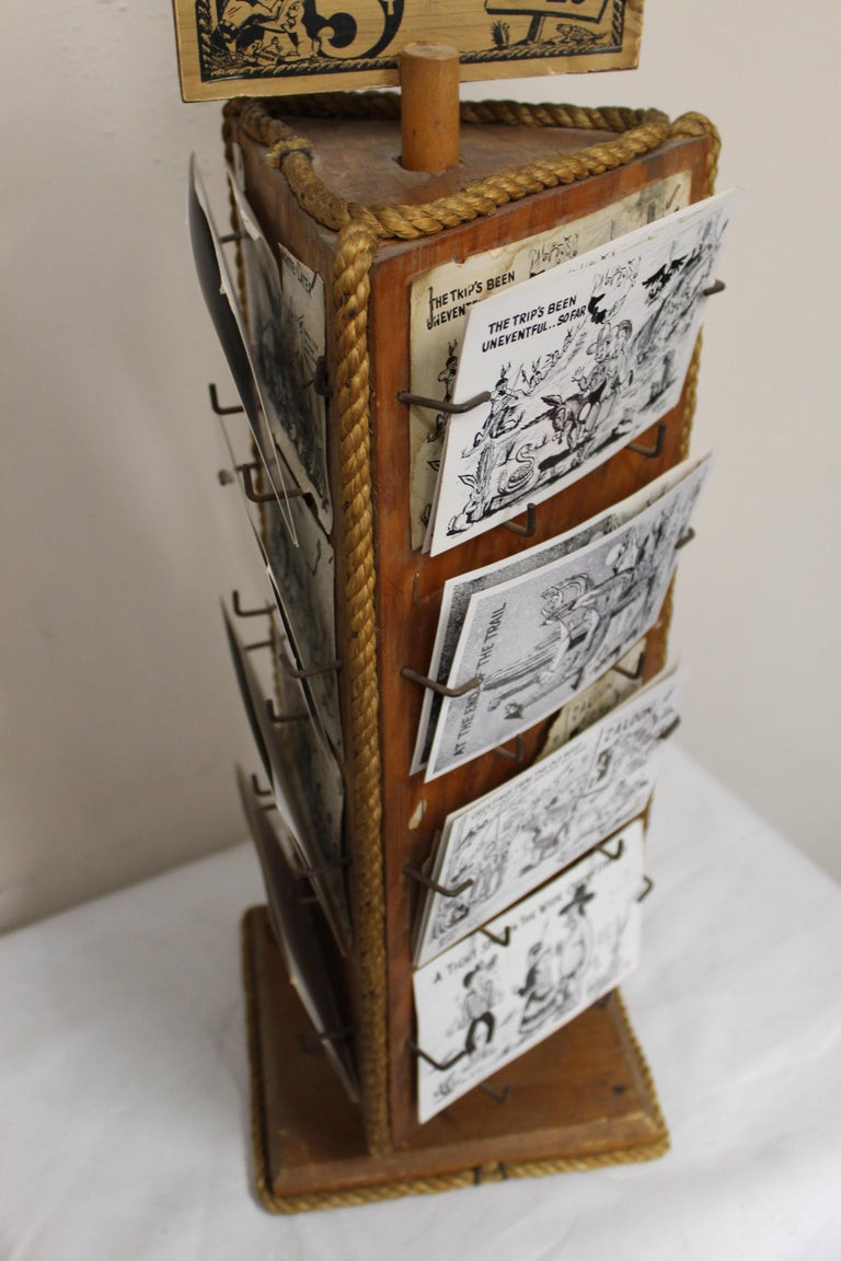 1940s Post Card Display Rack by Bob Petley For Sale 6