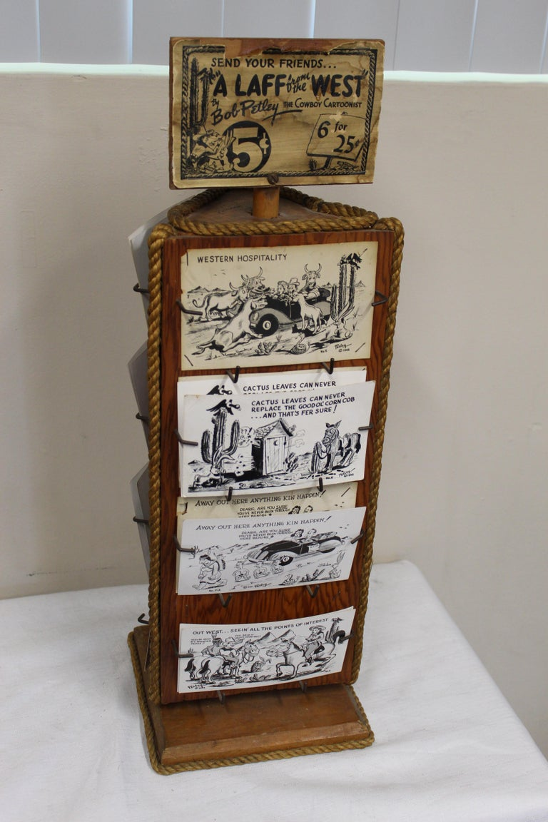 1940s Post Card Display Rack by Bob Petley For Sale 9