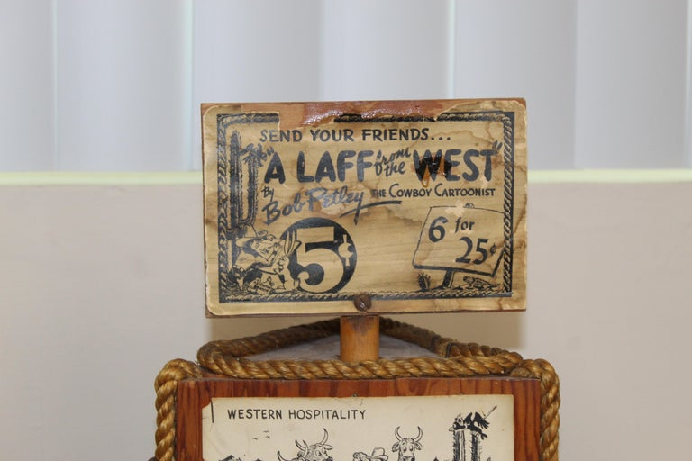 American 1940s Post Card Display Rack by Bob Petley For Sale