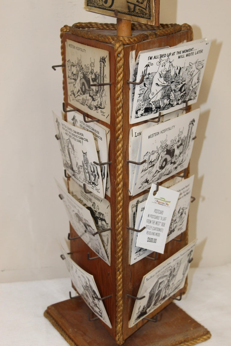 Mid-20th Century 1940s Post Card Display Rack by Bob Petley For Sale