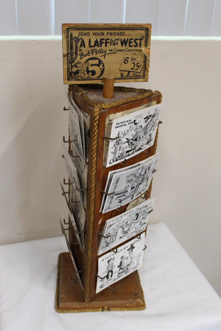 1940s Post Card Display Rack by Bob Petley For Sale 2