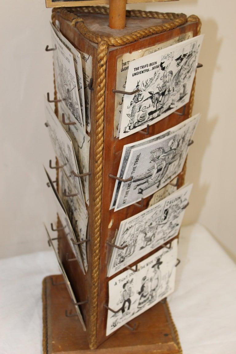 1940s Post Card Display Rack by Bob Petley For Sale 3