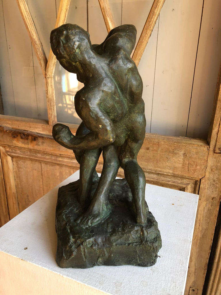 1940s Pugilist Sculpture in Bronze by Saverio Gatto For Sale 7