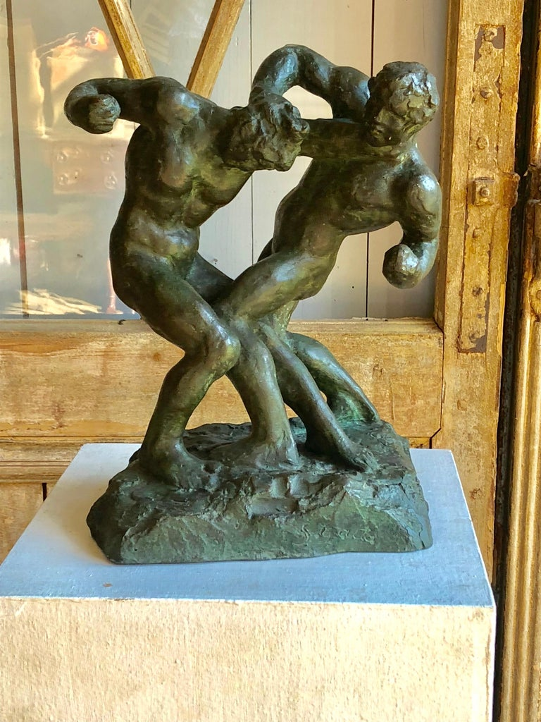 Other 1940s Pugilist Sculpture in Bronze by Saverio Gatto For Sale