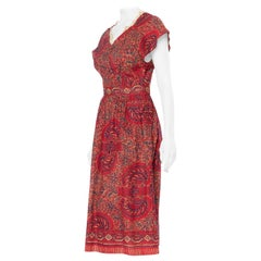 "1940S Red & Black Organic Cotton Nigerian ""Ngozi"" Batik Dress"
