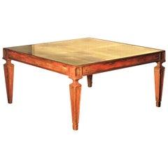 1940's Regency Mirrored Top Coffee Table