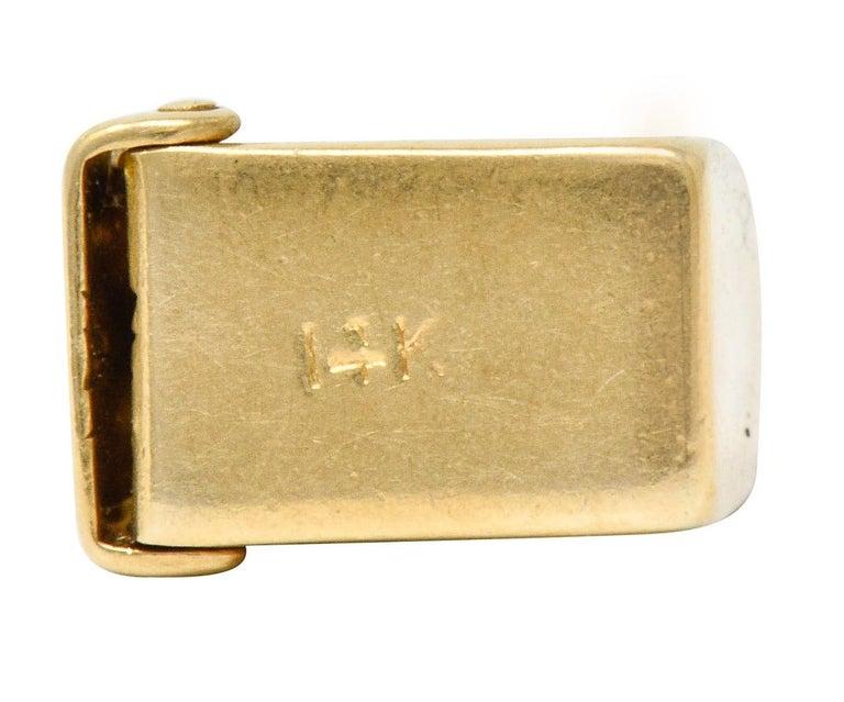 1940s Retro 14 Karat Gold Heart and Mailbox Charm 3