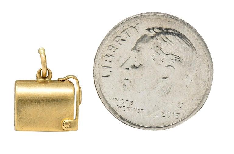 1940s Retro 14 Karat Gold Heart and Mailbox Charm 5