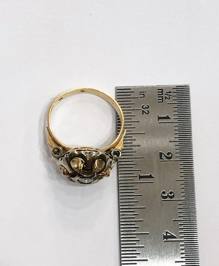 1940s Retro Diamond Gold Tank Cocktail Ring For Sale 7