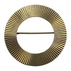 1940s Retro Tiffany & Co. Yellow Gold Eternity Circle Brooch