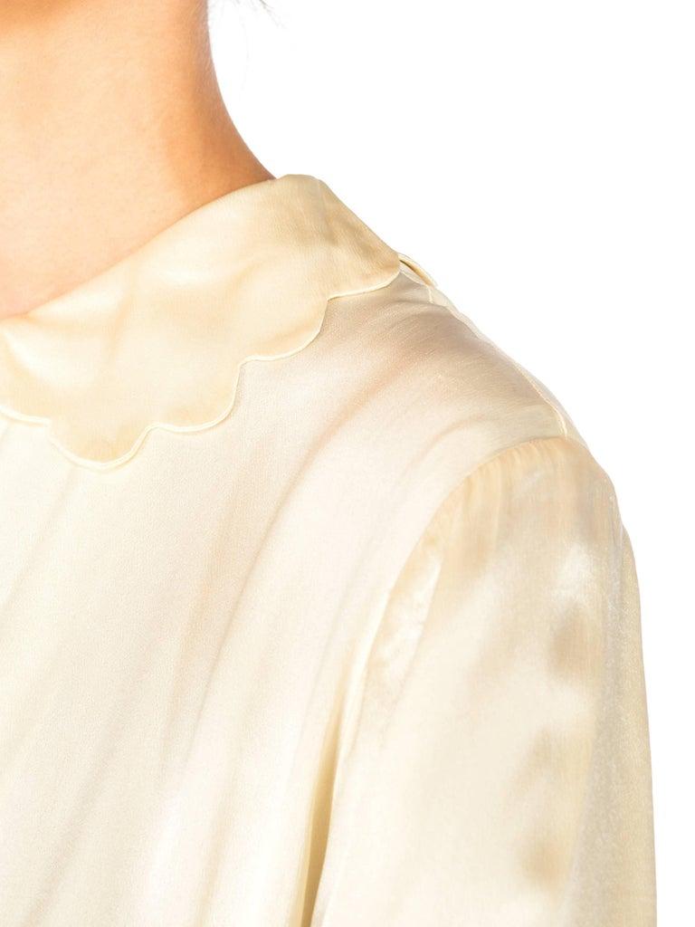 Rich Crepe back Satin Boudoir Robe Dressing Gown Peignoir, 1940s For Sale 5