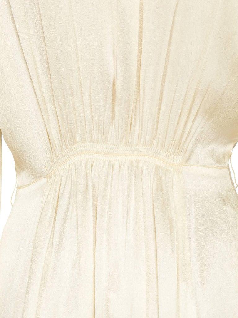 Rich Crepe back Satin Boudoir Robe Dressing Gown Peignoir, 1940s For Sale 6