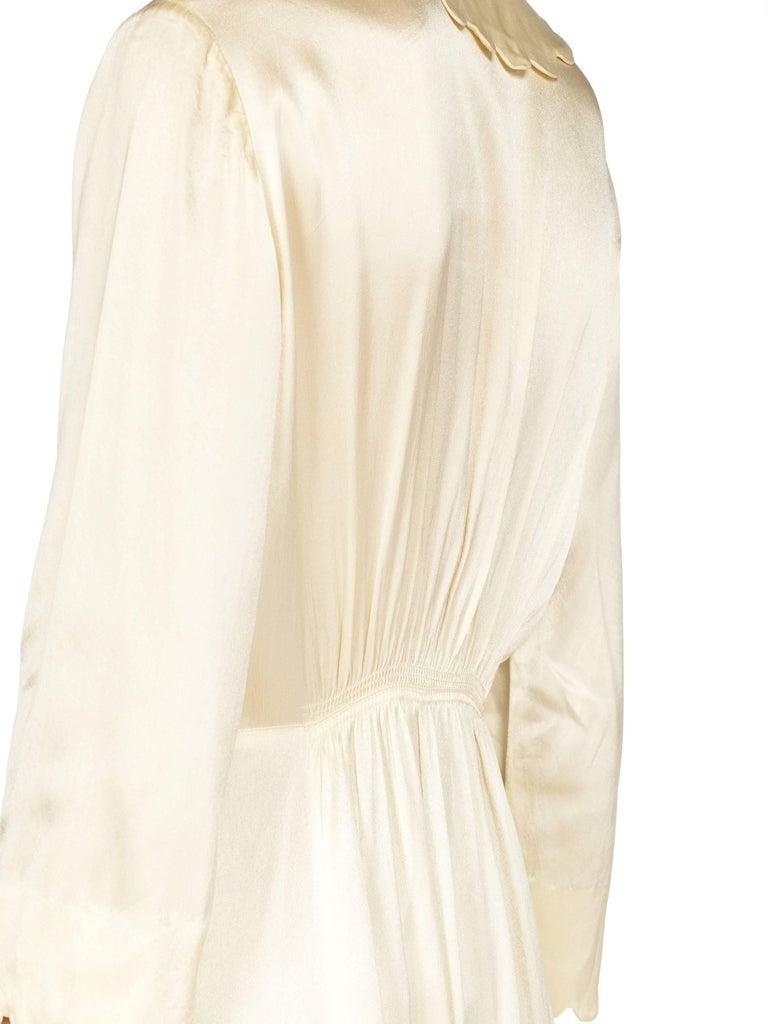 Rich Crepe back Satin Boudoir Robe Dressing Gown Peignoir, 1940s For Sale 7