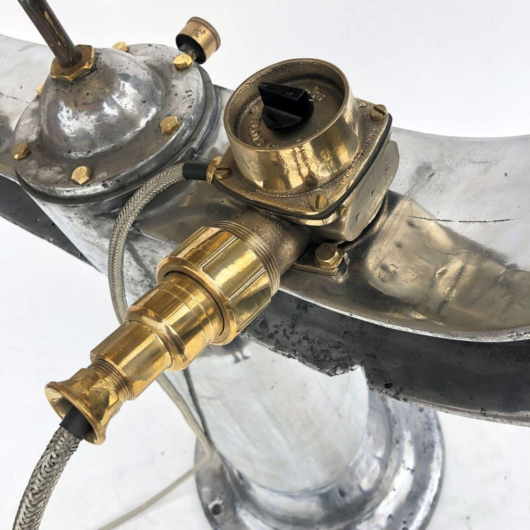 1940s Rotherham's British Brass, Bronze and Aluminium Naval Searchlight For Sale 8