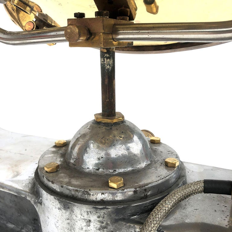 1940s Rotherham's British Brass, Bronze and Aluminium Naval Searchlight For Sale 9