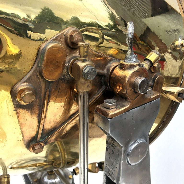 1940s Rotherham's British Brass, Bronze and Aluminium Naval Searchlight For Sale 11