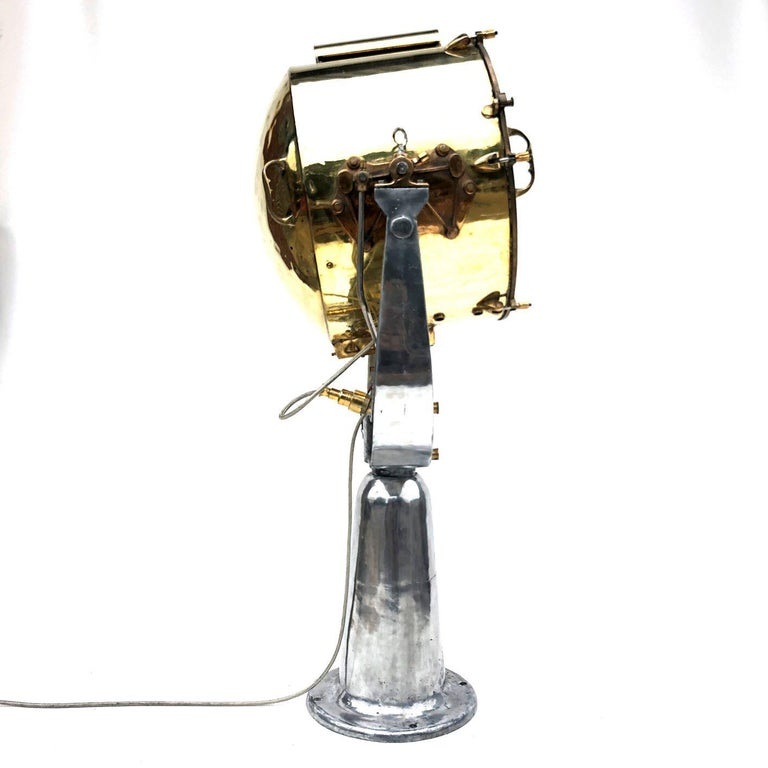1940s Rotherham's British Brass, Bronze and Aluminium Naval Searchlight For Sale 12
