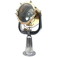 1940s Rotherham's British Brass, Bronze and Aluminium Naval Searchlight