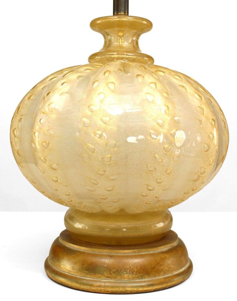 Mid-Century Modern Italian Venetian Murano Glass Table Lamp For Sale