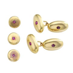 1940s Ruby gold Cufflinks set