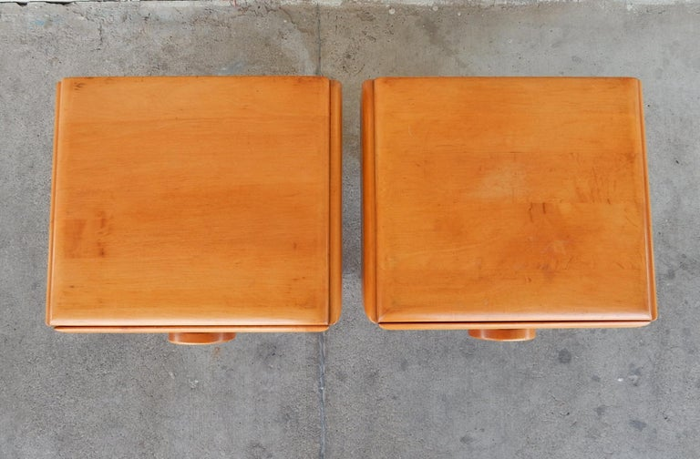 20th Century 1940s Russell Wright Design American Modern Side Tables For Sale