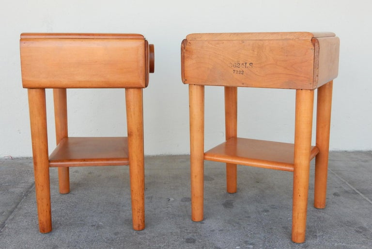 1940s Russell Wright Design American Modern Side Tables For Sale 1