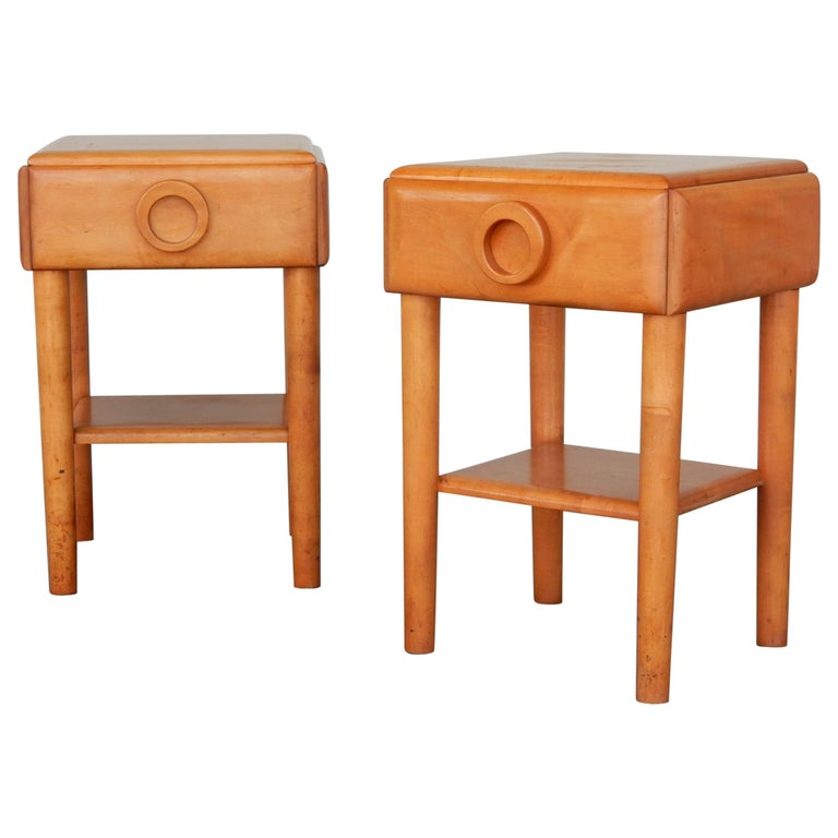 1940s Russell Wright Design American Modern Side Tables For Sale