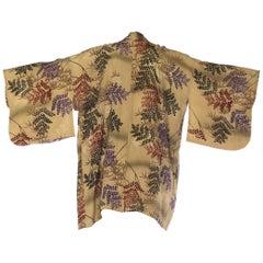 1940S Sage Green Bamboo Branch  Kimono