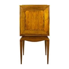 1940s Secretary Cabinet, Walnut, Flap Door, Secret Drawer, France